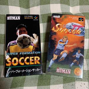 【箱・説明書あり】スーパーフォーメーションサッカー1・2 ★2個セット スーパーファミコンソフト
