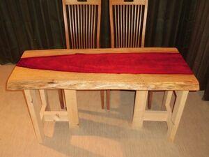Z-059◇ パドック 一枚板 テーブル ローテーブル センターテーブル ダイニング 無垢一枚板 No.125