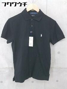◇ ●未使用● ◎ POLO RALPH LAUREN ラルフ タグ付 定価1.7万円 半袖 ポロシャツ サイズXS 165/88A ブラック メンズ