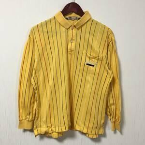 希少 当時物 日本製 DAKSGOLF ダックスゴルフ 鹿の子ポロシャツ 胸ポケット ロゴ刺繍 マルチカラーストライプ メンズMサイズ ゴルフウェア