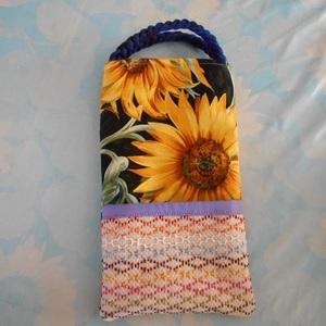 いろいろな使い方ができる ハンドメイド ペットボトルカバー 500~600ml スェーデン刺繍入り 刺繍ポケット ミニトートバッグ