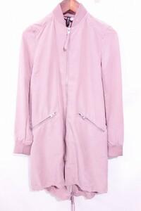 ■《美品》【ディバイデッドエイチアンドエム】Divded H&M/長袖ロング ジップ ジャケット[S-Mサイズ相当]34/ピンク☆