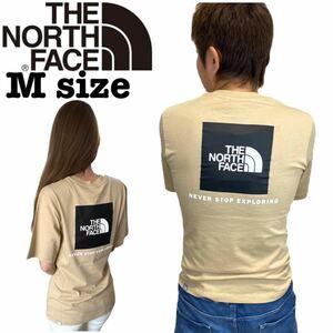 ノースフェイス レディース ボイフレンド レッドボックス Tシャツ 半袖 カーキ Mサイズ THE NORTH FACE WOMEN BOYFRIEND REDBOX TEE 新品