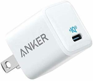 ホワイト 約45×27×27mm Anker PowerPort III Nano 20W (PD 充電器 20W USB-C
