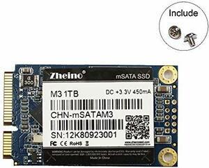 Zheino M3 内蔵型 mSATA 1TB SSD (30 * 50mm) mSATAIII 3D Nand 採用 6Gb/