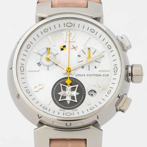 LOUIS VUITTON ルイ ヴィトン タンブール ラブリーカップ クロノグラフ シェル文字盤 クオーツ Q132C 純正革ベルト 腕時計 OH済 #27429