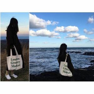 キャンバスバッグ 帆布 エコバッグ トートバッグ ロゴ 大容量 A4 グリーン
