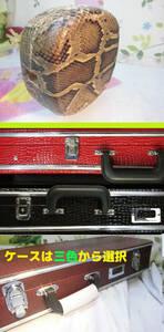 (送料無料)17.980円 沖縄三線専用ハードケースと蛇皮強化張チーガ(胴)セット