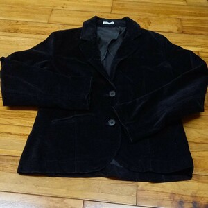 レディース 黒 テーラードジャケット
