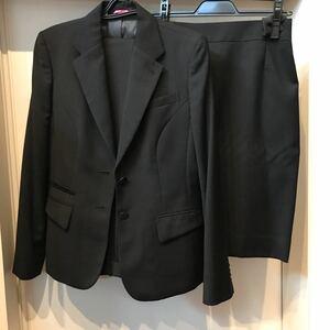 スカートスーツ パンツスーツ リクルート レディーススーツ 洋服の青山 膝丈 テーラードジャケット