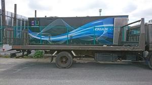 210324 Shinmeiwa SHIN MEIWA SC2-10B 2 ton car for loading car long carrier car carrier 5970×2150 winch PTO attaching
