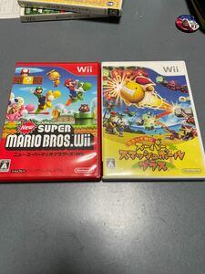 NewスーパーマリオブラザーズWii とたたいて弾むスーパースマッシュボール 2本セット Wiiソフト