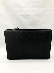 バーバリー セカンドバッグ ブラック 未使用品 カバン メンズ クラッチバッグ BURBERRY ビジネスバッグ 牛革