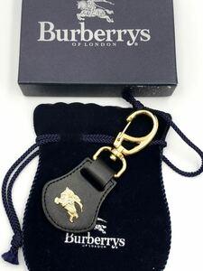 バーバリー キーリング ブラック×ゴールド 未使用品 キーホルダー BURBERRY 財布 キーケース