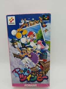 送料無料 ポップンツインビー 任天堂 スーパーファミコンソフト スーファミ 動作確認済み 箱 取扱説明書 付き