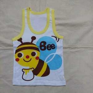 【未使用】【在庫処分】 ベビー 赤ちゃん 子供 キッズ ジュニア 女の子 男の子 90 タンクトップ 肌着 ハチ プリント かわいい 夏服