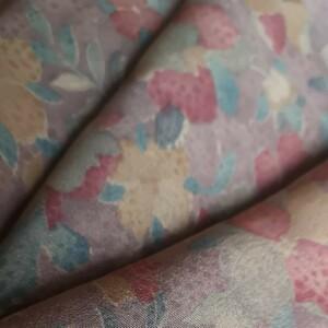 正絹 着物ほどき 34×308cm 花柄