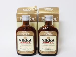 【大阪府内限定発送】★ニッカ ウイスキー エクストラ NIKKA *2本セット *ミニボトル / アルコール度数:37% 内容量:180ml