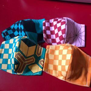 ハンドメイド立体マスク 4枚セット