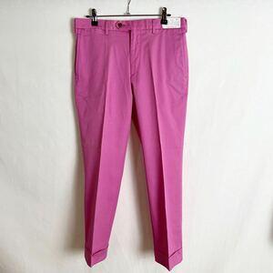 1円スタート! Y115-94-4 未使用品 J.PRESS ジェイプレス ピンク メンズ 82 センタープレスパンツ ズボン ボトムス ストレッチパンツ