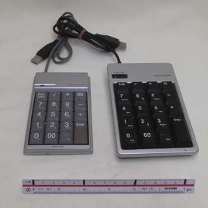 動作品: ELECOM TK-UFHSV と サンワサプライ NT-3UHSV USB テンキー 2点セット