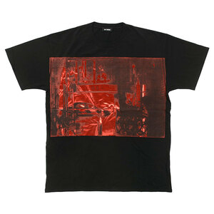 RAF SIMONS ラフシモンズ Tシャツ 半袖 メンズ レギュラー フィット ブラック Regular Fit T-Shirt Taxi 181 122 00099 19000(otr2332) S -