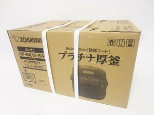新品 送料無料 ZOJIRUSHI 象印 圧力IH炊飯ジャー 極め抱き 炊飯器 1.0L(5.5合) ブラック プラチナ厚釜 NP-BK10-BA