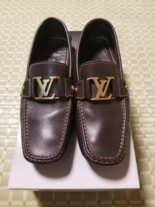 Louis Vuitton ルイヴィトン ブラウンレザー モンテカルロ ドライビングシューズ ローファー サイズ8 約26.0cm 美品