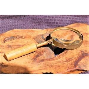 K3357*1900s アンティーク ルーペ マグニファインググラス アトリエ*シャビー*虫眼鏡*真鍮*ビンテージ*ディスプレイ*デコレート*古道具