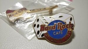 ハードロックカフェ ピン バッチ 2個 アトランティック シティ