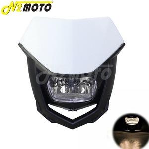 汎用 ヘッドライト カウル フェアリング フロント モトクロス ダート 電球タイプ: H4 エンデューロ white black 6UL