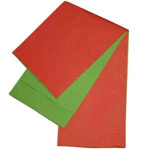 日本製 本袋 浴衣帯 リバーシブル 半幅帯 小袋帯 半巾帯 無地 ゆかた帯 サーモンピンク系×黄緑