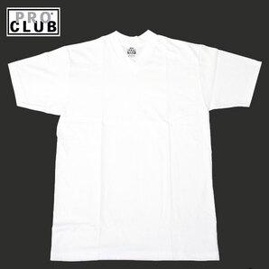PROCLUB プロクラブ プレーン Vネック Tシャツ 白 ホワイト 半袖 無地 LA USA V PRO CLUB (サイズ:S)