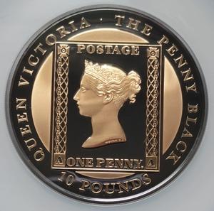 【最高鑑定 フルセット】2020 ペニーブラック 10ポンド 5オンス 銀貨 イギリス領マン島 金メッキ NGC PF70UC モダンコイン アンティーク