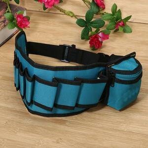 送料無料 新品 工具入れ 工具収納 腰袋 工具ホルダー 青 ブルー マルチポケット ツールバッグ ウエスト ポケット ツールベルト ケース