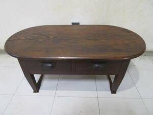 H882★レトロなセンターテーブル 引き出し付き 座机 平机 書斎机★アンティーク品