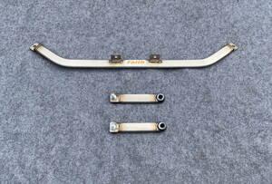 Honda BEAT beet PP1#Faith/ face made rear under brace 4 point type rear reinforcement bar rear lower arm bar rear performance bar