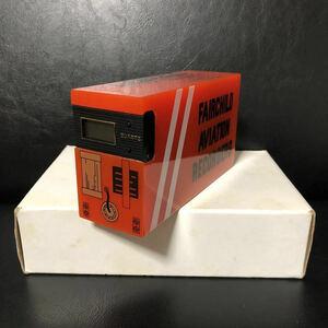 即決 送料510円~ ブラックボックス型 ジャンク デジタル時計 クオーツ FAIRCHILD フェアチャイルド フライト レコーダー 航空 飛行機 置き
