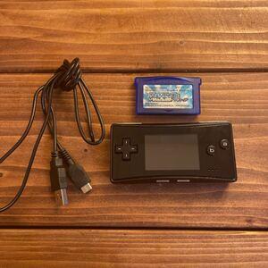ゲームボーイミクロ/GAME BOY micro(ブラック)ポケットモンスターサファイア