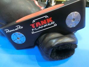 打太郎★ロマロ TANK FLANKER/スタビリティシャフト装着 34インチ/ヘッドカバー有 中古パター