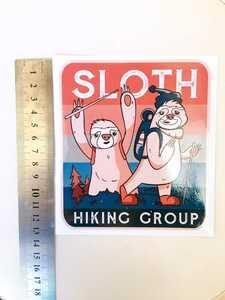 SLOTH HIKING GROUPステッカー ナマケモノ