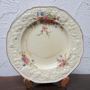 イギリス ヴィンテージ クラウン・デュカル デザートプレート 皿 ディスプレイ アンティーク雑貨 英国製 plate 1468sa