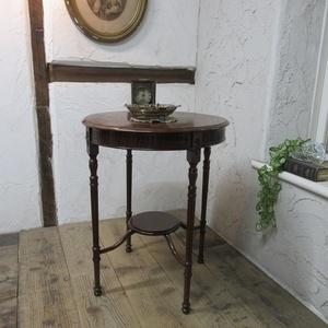 イギリス アンティーク 家具 オケージョナルテーブル サイドテーブル 飾り棚 花台 木製 マホガニー 英国 SMALLTABLE 6779b