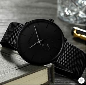 メンズ腕時計 防水高級クォーツトップブランド メッシュ鋼 スポーツウォッチ レロジオMasculino