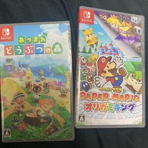 どうぶつの森 ペーパーマリオ Nintendo Switch ニンテンドースイッチ ソフト