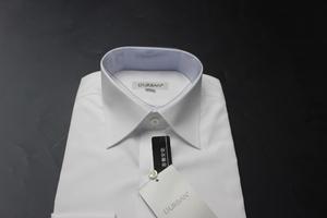 新品ダーバンD'URBAN 日本製 形態安定 レギュラーカラー/ファーマル/長袖ドレスシャツ 42-80 白無地/6909421201(2G111