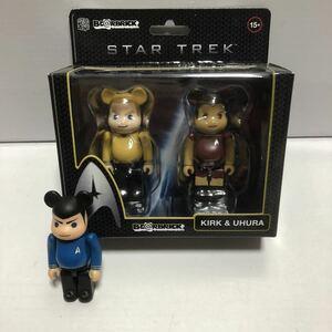 激レア ベアブリック スタートレック SPOCK & KIRK & UHURA 3種セット (BE@RBRICK STAR TREK)