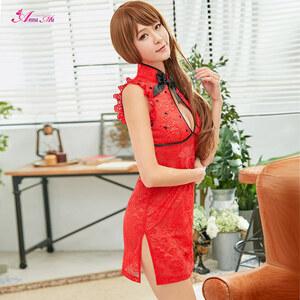 z2264 ハロウィン コスプレ チャイナドレス コスチューム ミニ チャイナ服 衣装 セクシー