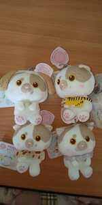 猫のホイップ & you キーチェーン マスコット ぬいぐるみ 全4種セット かわいい 肉球 ネコ 新品 タグ付き 誕生日 プレゼントに ねこ