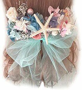 リトルマーメード Lulu's ルルズ ヘッドドレス プリザーブドフラワー ドライフラワー ウェディング ブライダル リトルマー